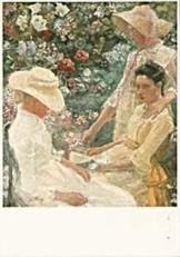 Jan Th.Toorop (1858-1928) -Trio Fleuri- Dubbele Kaart