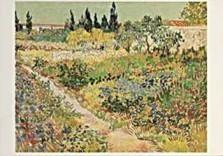 Vincent van Gogh (1853-1890) -van Gogh/ Tuin te Arles/HGM- Dubbele Kaart