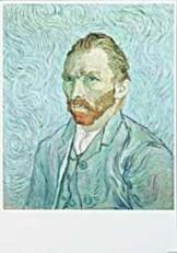 Vincent van Gogh (1853-1890) -van Gogh/Portrait de l'artiste- Dubbele Kaart