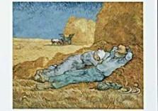 Vincent van Gogh (1853-1890) -van Gogh/La  meridienne- Dubbele Kaart