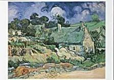 Vincent van Gogh (1853-1890) -Chaumes de Cordeville- Dubbele Kaart