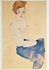 Egon Schiele (1890-1918) -E.Schiele/Zonder titel/HGM- Dubbele Kaart