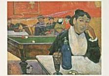 Paul Gauguin (1848-1903) -P. Gauguin/Cafe in Arles/PMM- Dubbele Kaart