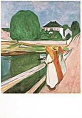 Edvard Munch (1863-1944) -E. Munch/White night/PMM- Dubbele Kaart