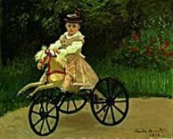 Claude Monet (1840-1926) -C.Monet/J. Monet on his Hobby- Dubbele Kaart