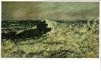 Gustave Courbet (1819-1877) -De golf- Dubbele Kaart