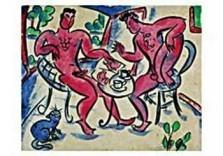Eddy Varekamp (1949) -Heren aan de thee.- Dubbele Kaart