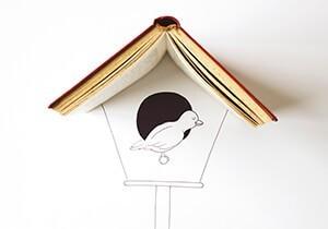 Cintascotch (J. P. Estrella) -Bookhouse bird- Dubbele Kaart