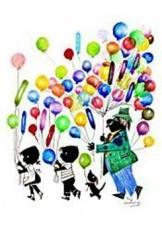 Fiep Westendorp (1916-2004) -Man met ballonnen- Dubbele Kaart