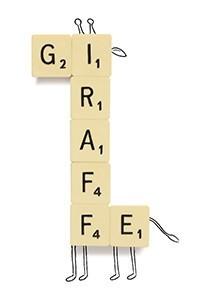 Cintascotch (J. P. Estrella) -Giraffe Scrabble- Dubbele Kaart