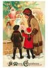 A.N.B.  -  Moeder staat met kinderen bij de kerstboom - Postkaart -  1C0223-1