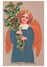 A.N.B.  -  Engel met kersttakken - Postkaart -  1C0266-1