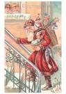 Anonymus  -  Kerstman loopt met cadeaus - Postkaart -  1C0280-1