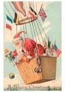 Anonymus  -  Kerstman met cadeaus in een luchtballon - Postkaart -  1C0332-1