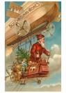 A.N.B.  -  Kerstman vliegt door de lucht met cadeaus - Postkaart -  1C0398-1