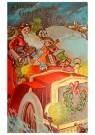 Anonymus  -  Kerstman rijdt in de auto met cadeaus - Postkaart -  1C0405-1