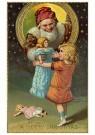 A.N.B.  -  Kerstman brengt een pop bij een meisje - Postkaart -  1C0552-1