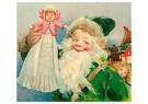 Anonymus  -  Kerstman met een popje in zijn hand - Postkaart -  1C0666-1