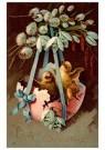 Anonymus  -  Twee kuikentjes in een halve eierschaal - Postkaart -  1C0669-1