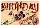 A.N.B.  -  Birthday greetings - Postkaart -  1C1041-1