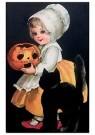 Anonymus  -  Meisje met een zwarte kat (A merry Halloween) - Postkaart -  1C1129-1