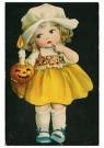 Anonymus  -  Meisje met een pompoen en een kaars - Postkaart -  1C1325-1