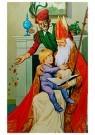 Anonymus  -  Sinterklaas met kind op schoot - Postkaart -  1C1777-1