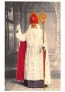 Anonymus  -  Sinterklaas met staf in zijn hand en zijn vinger omhoog - Postkaart -  1C1817-1