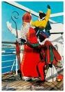 Anonymus  -  Sinterklaas met zwarte pieten op de boot - Postkaart -  1C1853-1