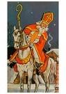 Anonymus  -  Sinterklaas op zijn paard - Postkaart -  1C1871-1