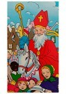 Anonymus  -  Sinterklaas met kinderen - Postkaart -  1C1884-1