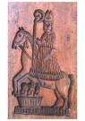 Anonymus  -  Sinterklaas op zijn paard (bakvorm) - Postkaart -  1C1896-1