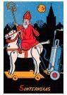 Anonymus  -  Sinterklaas op zijn paard - Postkaart -  1C1907-1