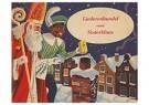 Anonymus  -  Sinterklaas en zwarte piet bij de schoorsteen met een cadeau - Postkaart -  1C1911-1