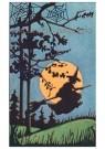 Anonymus  -  Heks vliegt op een bezemsteel - Postkaart -  1C2030-1