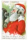 Anonymus  -  Kerstman aan de telefoon (merry christmas) - Postkaart -  1C2059-1