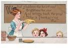 Anonymus  -  Moeder maakt het eten voor de kinderen - Postkaart -  1C2188-1