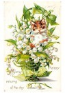 A.N.B.  -  Kat in een plant (many happy returns of the day) - Postkaart -  1C2224-1