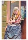 A.N.B.  -  Meisje met een kat in haar arm (Marken) - Postkaart -  1C2232-1