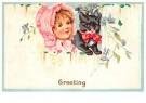 Anonymus  -  Meisje met een katje - Postkaart -  1C2235-1
