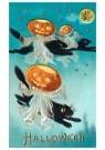 Anonymus  -  Halloween (zwarte katten en pompoenen) - Postkaart -  1C2260-1