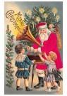 A.N.B.  -  Kerstman met een platenspeler bij twee kinderen - Postkaart -  1C2292-1