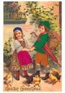 Anonymus  -  Twee kinderen en kuikentjes - Postkaart -  1C2381-1