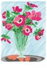 L. Teding van Berkhout (1948)  -  Anemonen op tinnen schotel - Postkaart -  2C0008-1