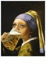 René Jacobs (1969)  -  Girl with the beer - Postkaart -  2C0128-1