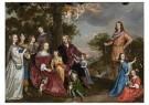 Jan Mijtens (1614-1670)  -  Portret van Willem van der Kerckhove en zijn gezin, 1652 - Postkaart -  2C0139-1