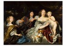 A. van den Tempel (1622-1672)  -  Prinses Albertina Agnes en haar drie kinderen (1668) - Postkaart -  2C0143-1
