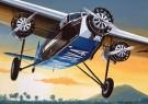 Thijs Postma (1933)  -  Fokker F.18 - Postkaart -  2C0297-1