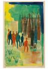 Hendrik Nic.Werkman (1882-1945 -  De kinderen in het bosch, 1942 - Postkaart -  2C0750-1