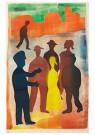 Hendrik Nic.Werkman (1882-1945 -  De vertelling op de markt, 1943 - Postkaart -  2C0765-1